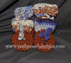Free Crochet Pattern For Small Dog Booties : Dog Booties on Pinterest Dog Coats, Dogs and Pets