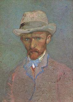 Vincent van Gogh · Autoritratto con cappello di feltro · 1887 · Van Gogh Museum · Amsterdam
