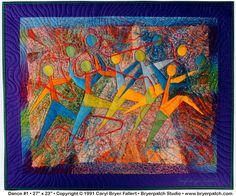 Dance #1: Copyright © 1991 Embroidered Art Quilt by Caryl Bryer Fallert, Paducah KY