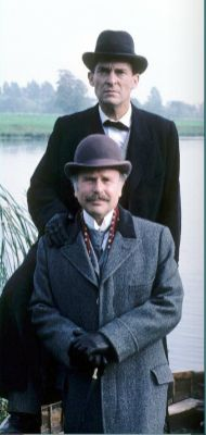 Jeremy Brett as Sherlock Holmes and Edward Hardwicke as his Watson