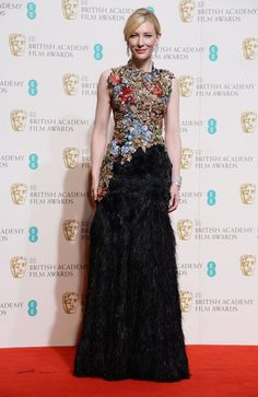 BAFTAs 2016: Cate Blanchett in an Alexander McQueen dress and Tiffany & Co. jewelry