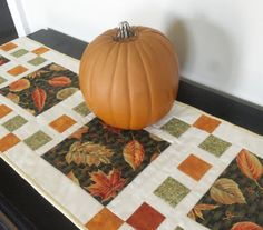 Autumn Modern Quilted Table Runner Fall by homesewnbychristine