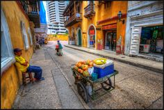 vibrancy of old town Cartagena