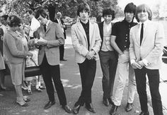 The Rolling Stones, circa Carnaby Street Era - I was in sixth grade reading Seventeen Magazine and wearing Carnaby Street hats.  When I went back to London, I went to Carnaby Street, but was disappointed; it was over... (Bond Street was GREAT, however...)