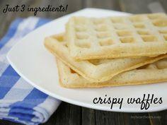 3 Ingredient Crispy Waffles - gluten-free, Paleo, vegan, dairy-free - My Heart Beets