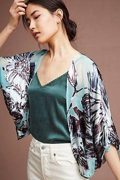 Floral Burnout Kimono