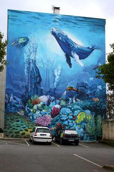 Façade peinte à Brest (29). #streetart