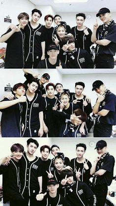 Love a group photo❤ Baekhyun Chanyeol, Park Chanyeol, Exo Chen, Kpop Exo, Exo Chanyeol, Daily Exo, Exo Group Photo, Luhan And Kris, Exo Official