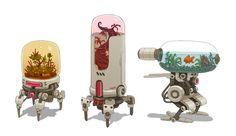 """Terrarium Bots"" - Awesome Robot Concepts by James McDonald"