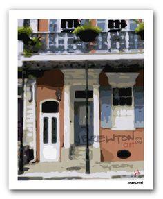 Love the French Quarter Home giclee print $20 on bourbonandboots.com