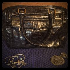 "Authentic Rebecca Minkoff handbag! Previously loved in excellent condition RM handbag! Slight wear on handles. No rips, stains or tears! Dust bag included! Measures 13 x 10 x 6. 8"" drop. Mini MAB Rebecca Minkoff Bags"