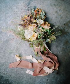 bouquet with ribbons