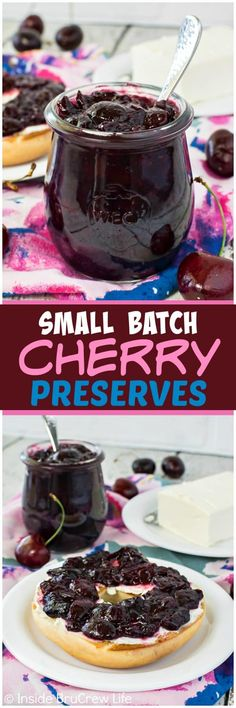 Religious Magic And Spiritual Ability Element One Small Batch Cherry Preserves - Simmer Down Fresh Berries And Honey To Make A Jar Of Delicious Preserves. This Easy Homemade Recipe Is Perfect For Eating On Bagels Or Toast Homemade Jelly, Easy Homemade Recipes, Homemade Cheese, Homemade Butter, Homemade Sauce, Homemade Products, Cherry Recipes, Jam Recipes, Canning Recipes