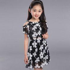 83e433853 Girl s dresses 2017 teenage children summer floral dresses Bohemian ...