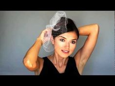 How to Wear Birdcage Veil - super helpful youtube channel