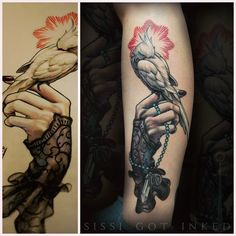 a bird in the hand is worth two in the bush #cockatiel #birdtattoo #tattoo #newtraditional #handtattoo #sissigotinked #viennatattoo #illustration #neotraditionel #neotraditional #neo #traditionel #traditional #draw #drawing #tattoo #ink #tattooed #inked #sketch #sketches #flowers #animals #bird
