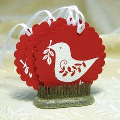 Holiday dove tags