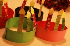 Lucia Day (Dec Or, birthday hats for Jesus' birthday party - Christmas Craft. Or Advent wreath. Christmas Crafts For Kids To Make, Preschool Christmas, Christmas Activities, Christmas Traditions, Holiday Crafts, Christmas Bible, Kids Christmas, Christmas Hats, Christmas Print