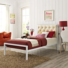 Found it at Wayfair - Mia Upholstered Platform Bed