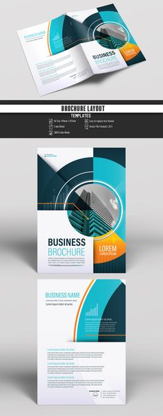 Brochure Cover Layout with Teal and Orange Accents 5. Buy this stock template and explore similar templates at Adobe Stock | Adobe Stock. #Brochure #Business #Proposal #Booklet #Flyer #Template #Design #Layout #Cover #Book #Booklet #A4 #Annual #Report| Brochure template | Brochure design template | Flyers | Template | Brochures | Flyer Background | Background design | Business Proposal | Proposal Design | Booklet | Professional | Professional - Proposal - Brochure - Template