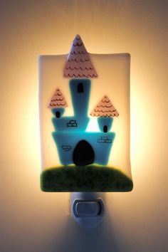 Nightlight  Castle by CreationsEnVerre on Etsy, $38.00