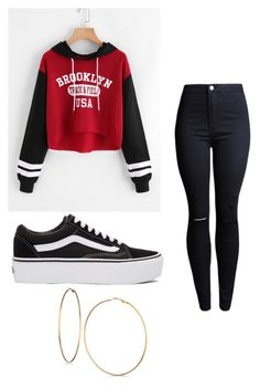 """Untitled #13"" by alaninaissant on Polyvore featuring Vans and GUESS"