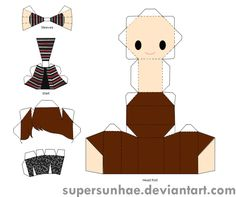 suho papercraft template by supersunhae