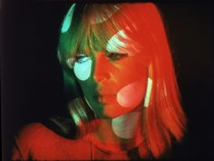 NICO. A still from The Chelsea Girls. Courtesy of the Andy Warhol Museum.
