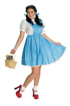 Plus Size Adult Dorothy Halloween Costume - Wizard of Oz  sc 1 st  Pinterest & modern dorothy costume - Google Search blue dress wizard of oz ...