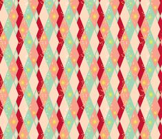 Cocktail Harlequin fabric by tuppencehapenny on Spoonflower - custom fabric