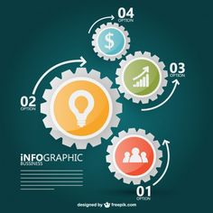 Data infography vector template