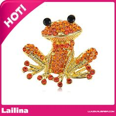 Find More Brooches Information about Orange Red Happy Crystal Rhinestones Golden Tone Smiling Frog Pin Brooch,High Quality brooch jewelry,China rhinestone crown brooch Suppliers, Cheap rhinestone iphone 4 cases from Lailina Jewelry Co., Ltd on Aliexpress.com