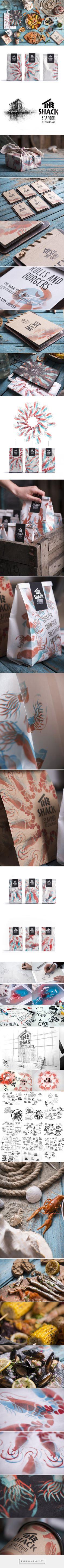 The Shack seafood packaging designed by Backbone Branding - http://www.packagingoftheworld.com/2016/02/the-shack.html