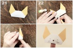 Learn how to make a cute little Origami Finger Puppet!: Origami Finger Puppet Tutorial - Step 6