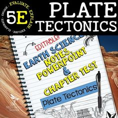 Plate Tectonics: Earth Science Notes, PowerPoint & Chapter