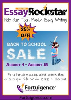 Our Back to School sale ends at midnight tonight! http://www.fortuigence.com/Fortuigence/Courses/index.cfm #homeschool #teachingwriting