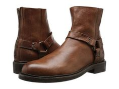 Frye - Walt Harness (Copper Washed Tumbled Full Grain) Men's Slip on  Shoes