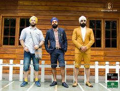 Model: Inderjeet Singh, Jasneet Singh & Swarndeep Singh Theme: Upscale Street Stylist: Anish Gopal Photography: Nikhil Raj & Vivek Kumar Makeup artist: Gurmeet Kaur Wardrobe: Woodland & Party House A Designer Studio Location: Lanterns kitchen n bar Accessories: shopharp.com  #Upscale #street #style #SikhVogue #fashion #magazine #photography #Singh #model #turban #beard #class #Woodland #fashiontv #ndtv #goodtimes #sikhism