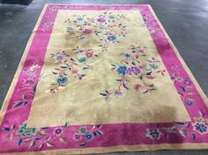AUTHENTIC ANTIQUE ART DECO NICHOLS CHINESE ORIENTAL RUG 1920'S HAND KNOTTED
