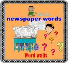 Newspaper words There are 35 newspaper words with their meaning.Just print, cut and laminate.Please give me a very kind comment for improving, I would be very appreciated. Thank you for stopping at my storeSmiley Teacher************************************************************************Other Word Walls Products1.