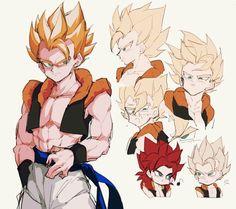 Gogeta Dragon Ball Z, Goku Y Vegeta, Broly Movie, Gogeta And Vegito, Cute Anime Guys, Anime Sexy, Fusion Art, Great Albums, Pokemon Funny