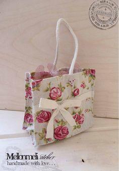 Μπομπονιέρα Τσαντάκι Φλοράλ Burlap, Reusable Tote Bags, Handmade, Hand Made, Hessian Fabric, Jute, Handarbeit, Canvas