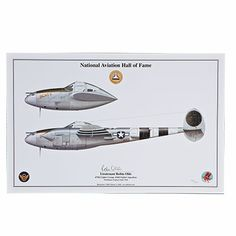 """Robin Olds P-38 Lightning """"Scat II"""" Signed Aircraft Print $100.00"""