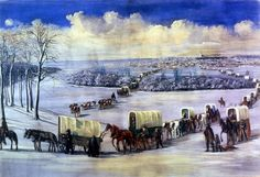 """Crossing the Mississippi on the Ice"" by C.C.A. Christensen -- Brigham Young University Museum of Art. [Image: Public Domain, courtesy of Wikipedia] 