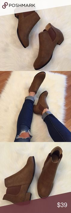Spotted while shopping on Poshmark: Distressed Cognac Ankle Booties! #poshmark #fashion #shopping #style #Boutique #Shoes
