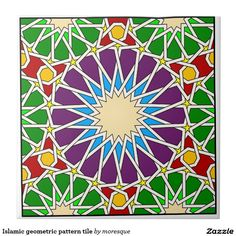 Shop Islamic geometric pattern tile created by moresque. Motifs Islamiques, Islamic Motifs, Islamic Tiles, Islamic Art Pattern, Arabic Pattern, Geometric Drawing, Geometric Art, Tile Patterns, Pattern Art