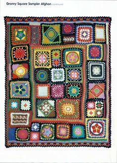Square sampler afghan