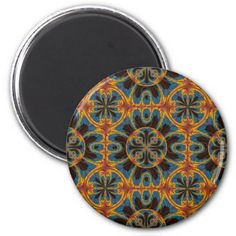 Tapestry pattern magnet - fancy gifts cool gift ideas unique special diy customize