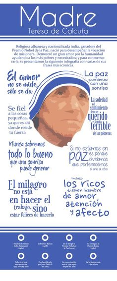 Frases de mujeres exitosas. La Madre Teresa de Calcuta.
