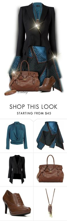 """""""Gyunel - Teal Origami Skirt"""" by lindsayd78 ❤ liked on Polyvore featuring Gyunel, Alexander McQueen, Ralph Lauren, LifeStride, NAKAMOL, Palm Beach Jewelry and WearIt"""
